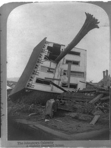 Damage caused by the Johnstown Flood 1889, Courtesy of the Library of Congress