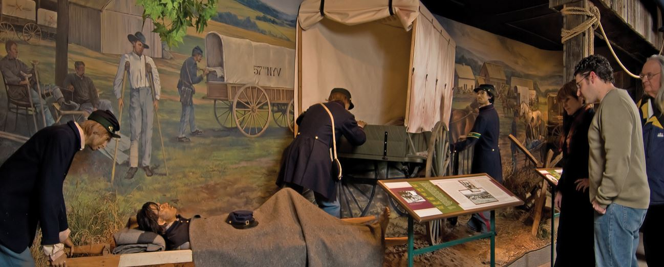 Visitors learn about revolutionary changes in Civil War evacuation at the National Museum of Civil War Medicine