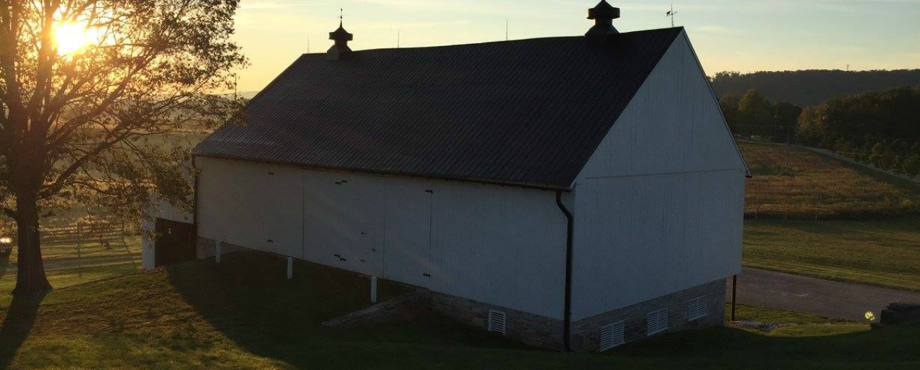 The Pry Barn on Antietam at Sunrise