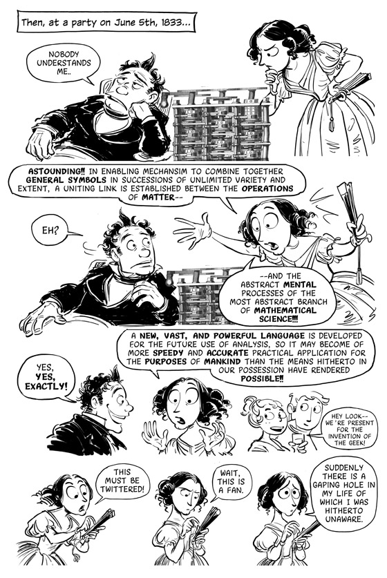 Sydney Padua Cartoon of Ada Lovelace's Origin Story