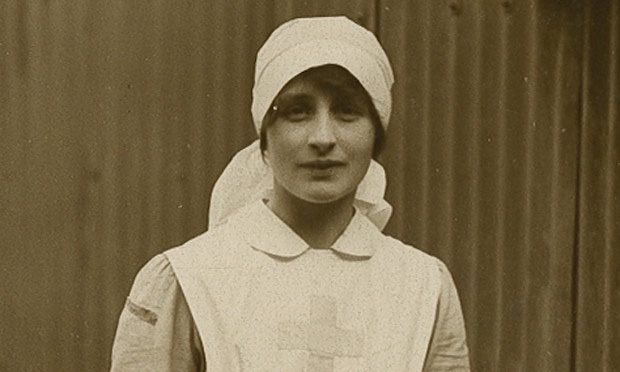 Vera Brittain in WWI Red Cross Nurse's uniform