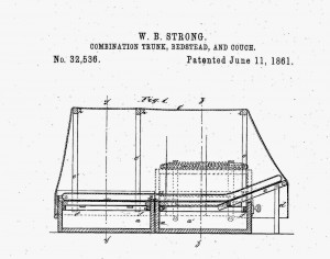The patent for the type of trunk bed Barton used.