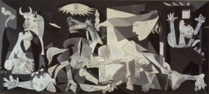 Picasso's Guernica, an example of art that grapples with and interprets war.