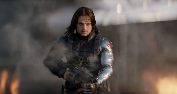 The Winter Soldier shows off this impressive prosthetic.