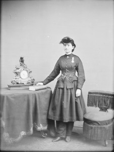 Dr. Mary Walker, 1865. Photo by Matthew Brady. Courtesy of National Archives.