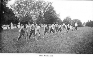 Residents of Central State Hospital playing Field Sports in 1910. Image Courtesy of Asylum Projects.