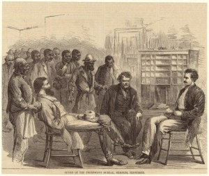 Office of Freedmen's Bureau, Memphis, Tennessee. Courtesy of the NYPL