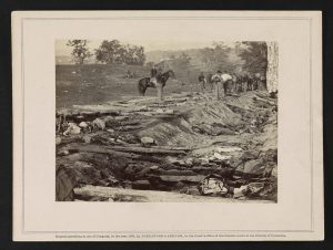 The destruction in and around Antietam's bloody lane (Courtesy of the Library of Congress)