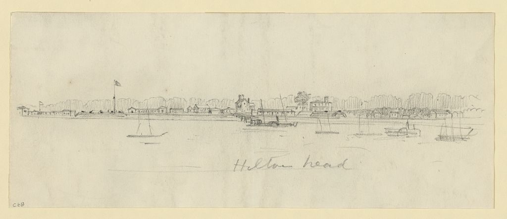 Sketch of Hilton Head during the Civil War