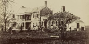 The Lacy House where Barton worked tirelessly during and after the battle.