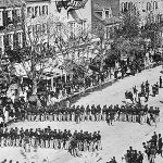 Photo of Lincoln's funeral