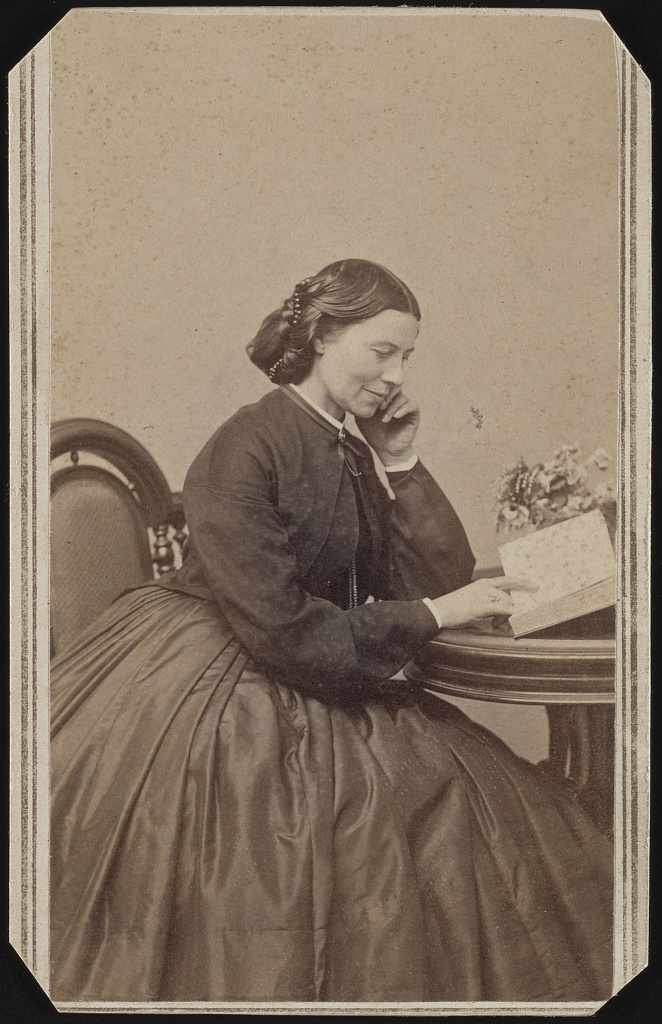Clara Barton c 1865 Courtesy of the Library of Congress