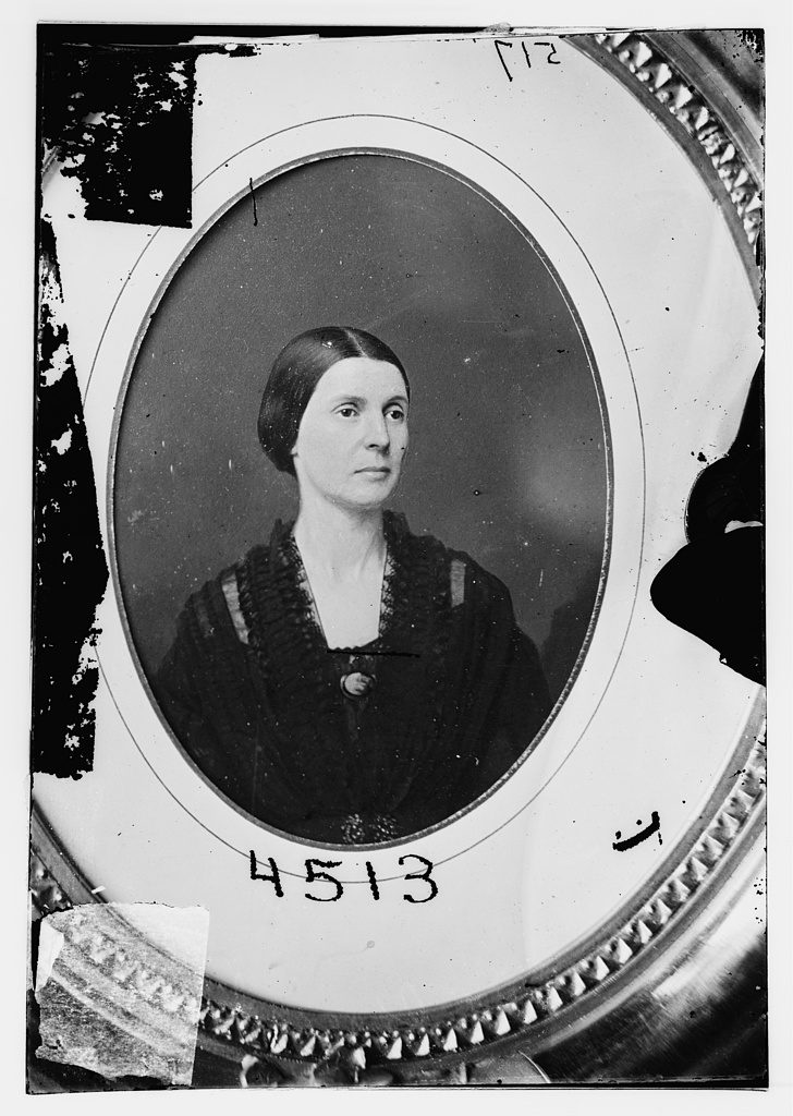 In Washington, Confederate spy Rose O'Neal Greenhow often sewed secret messages into her petticoats, corset and underclothes to keep them from being discovered. Courtesy of the Library of Congress.