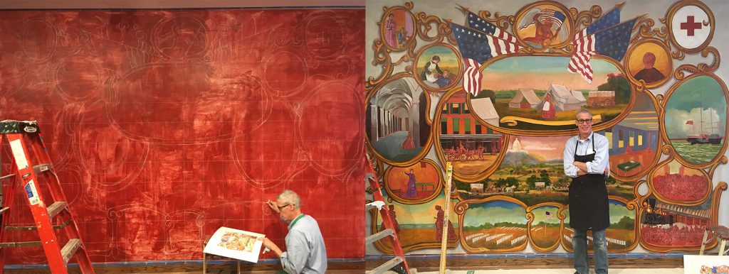 See how the mural is coming to life!
