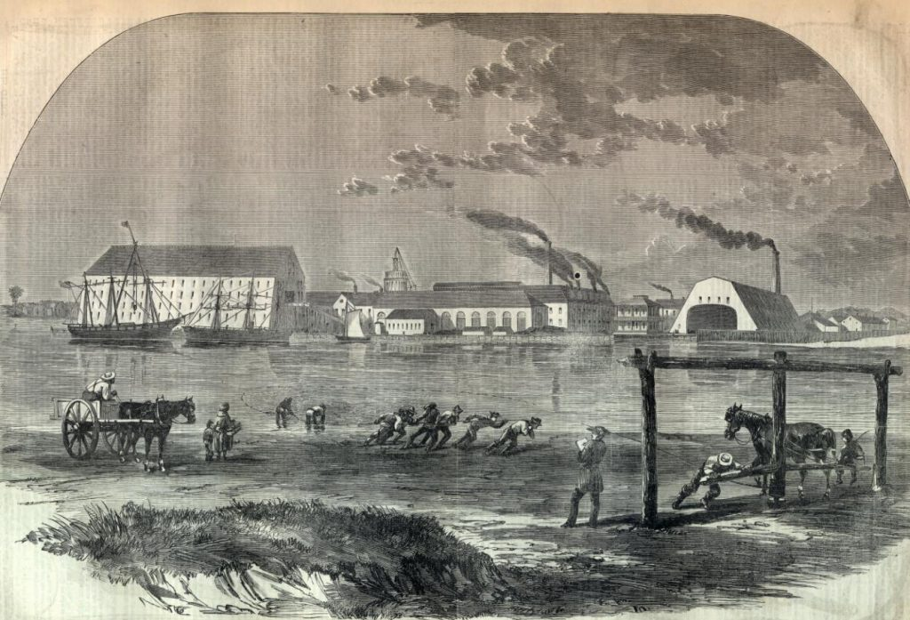 Sketch of the Washington Navy Yard