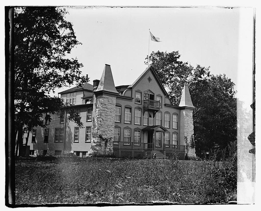 Red Cross Headquarters and Clara Barton Home, Glen Echo, Maryland. Courtesy of the Library of Congress