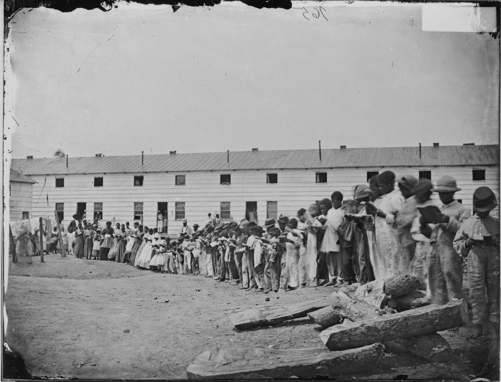 School at a contraband camp near Washington. Courtesy of the National Archives