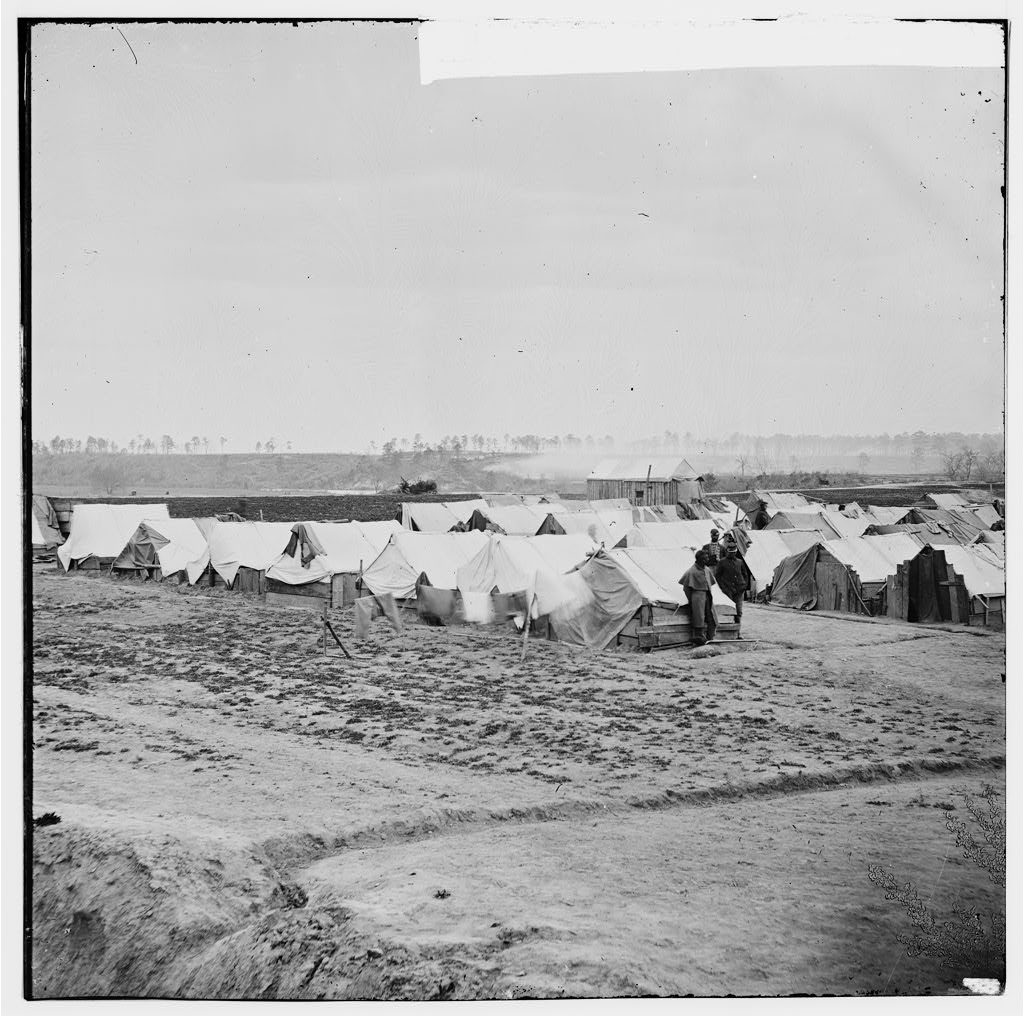 Federal camp Courtesy of the Library of Congress